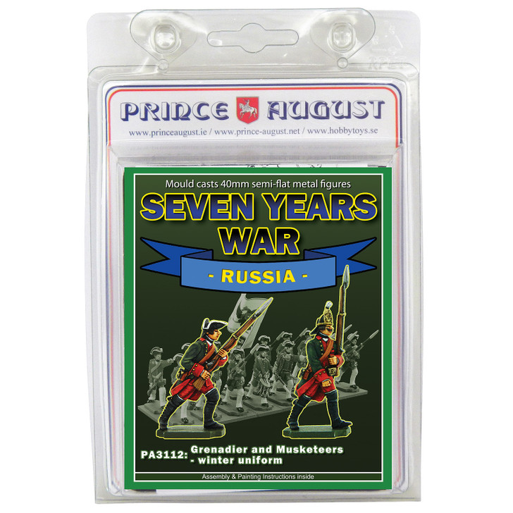 PA3112 Seven Years War Russia: Infantry Grenadier and Musketeer in Winter Uniform blister