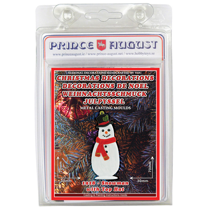 PA1918 Christmas Decorations - Snowman with Top Hat label