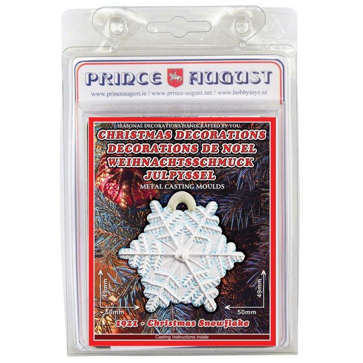 PA1921 Christmas Decorations - snowflake label