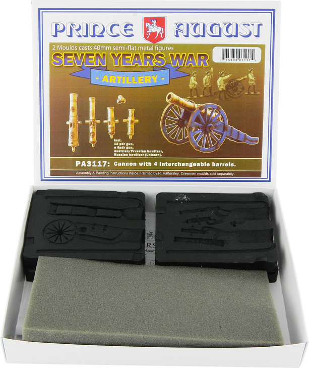 PA3117 Seven Years Wars Artillery cannon and howitzer package