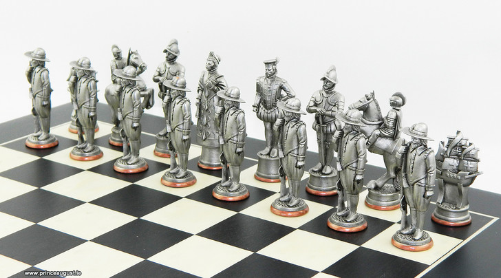 Spanish side of the Spanish Armada 1588 chess moulds