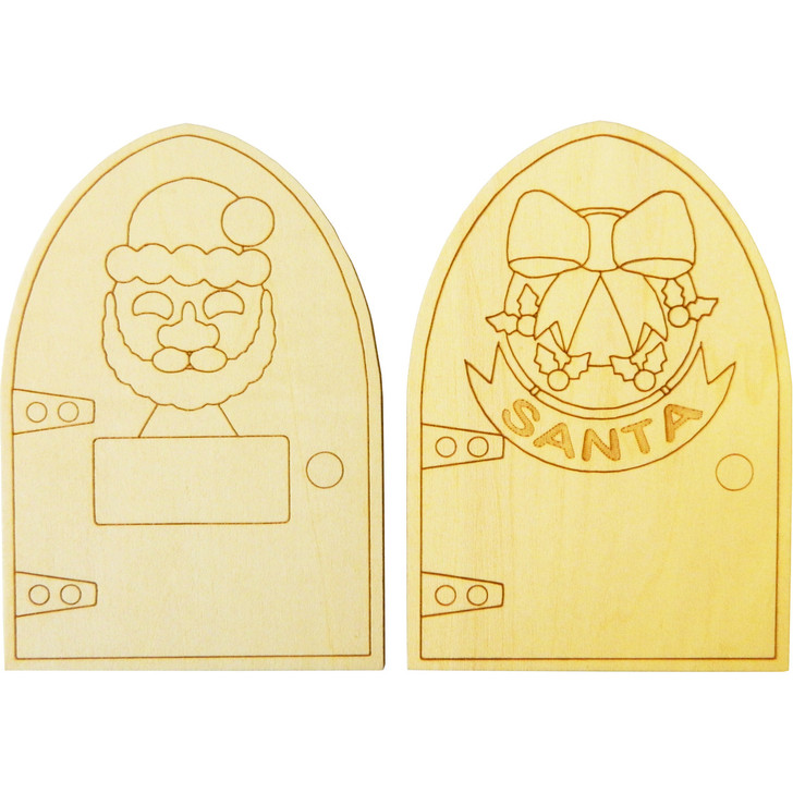 Two Wooden Christmas Doors.