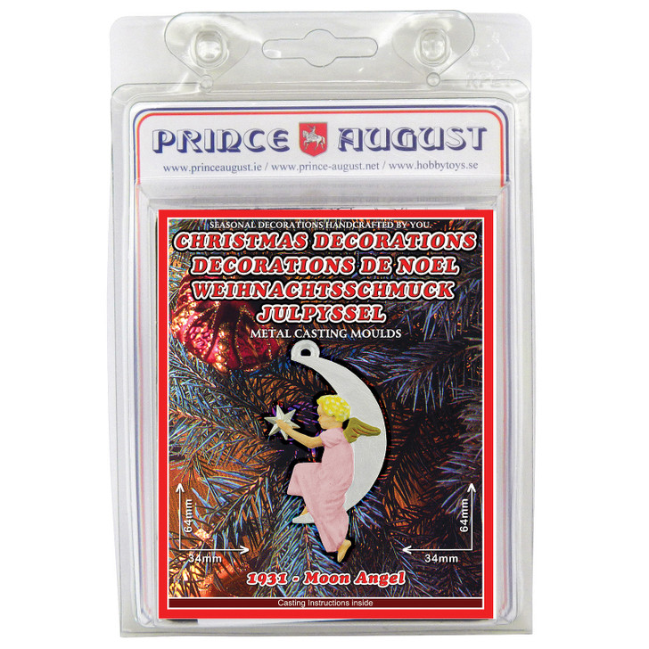 PA1931 Christmas Decorations - Moon Angel label