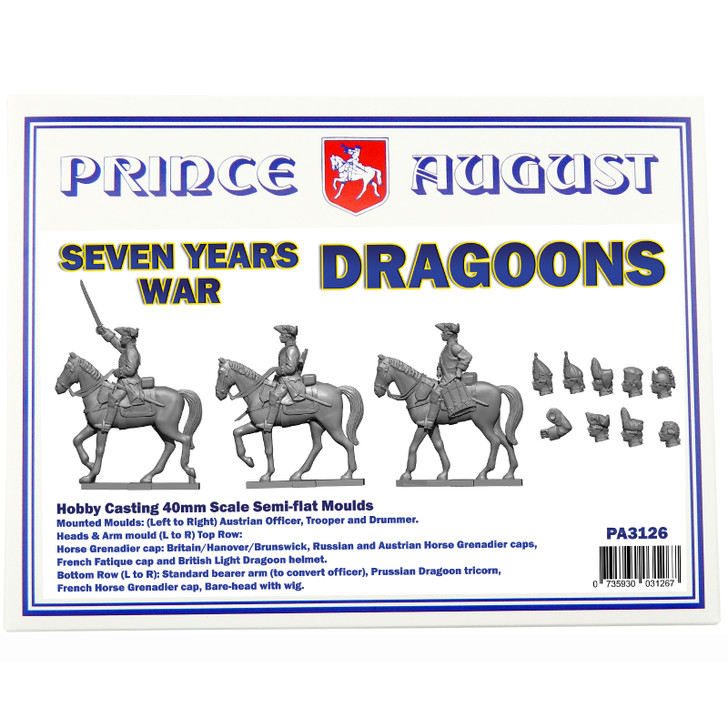 PA3126 Seven Years War Dragoons  - with interchangeable parts box set.