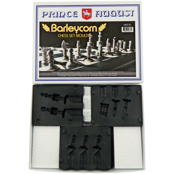 Barleycorn Chess Set Mould Set