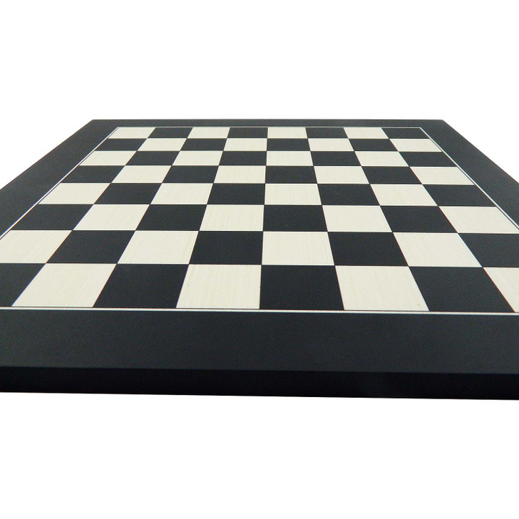 Wooden Chess Board with black and white squares.