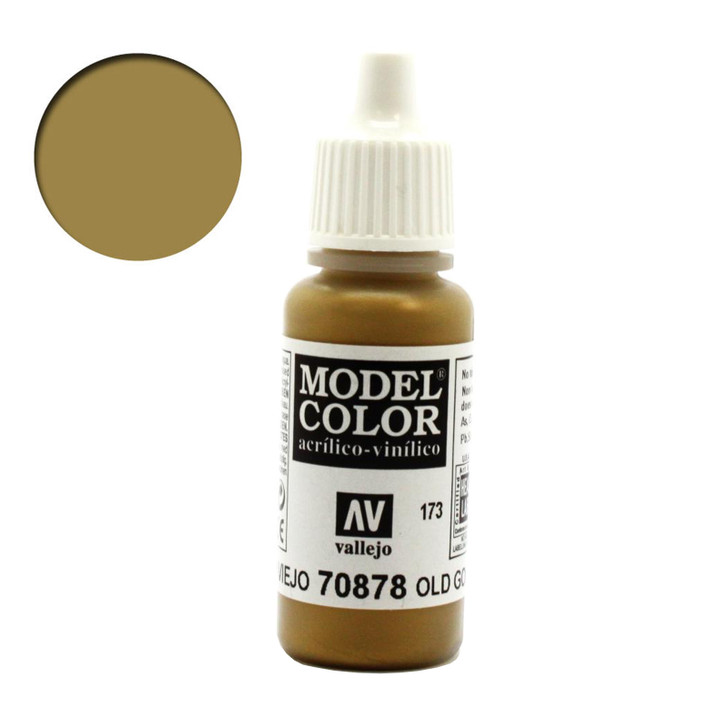 Old Gold Metallic Vallejo Model Color Acrylic Paint 70878