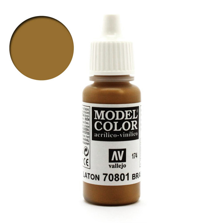 Brass Metallic Vallejo Model Color Paint 70801