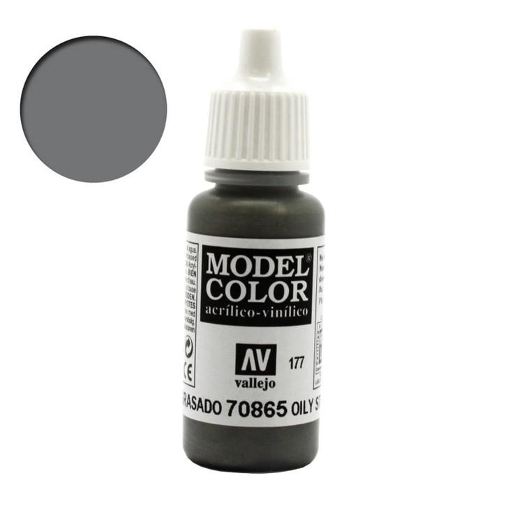 Oily Steel Metallic Vallejo Model Color Paint 70865