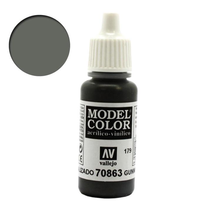 Gunmetal Grey Metallic Model Color Acrylic Paint 70863