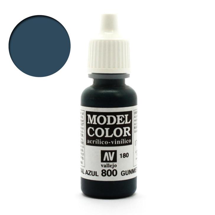 Gunmetal Blue Vallejo Model Color Acrylic Paint 70800