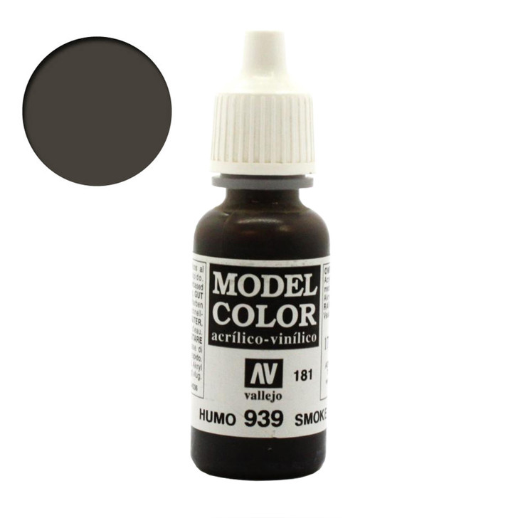 Smoke Transparent Wash Vallejo Model Color Acrylic Paint 70939