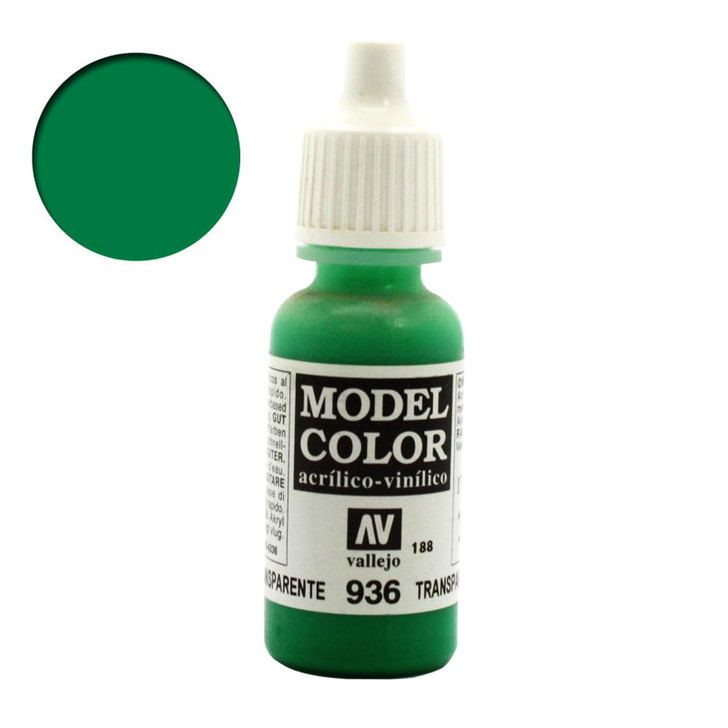 Transparent Green Vallejo Model Color Acrylic Paint 70936