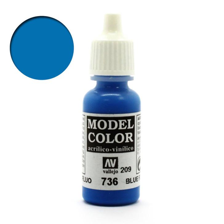Blue Flourescent Vallejo Model Color 70736