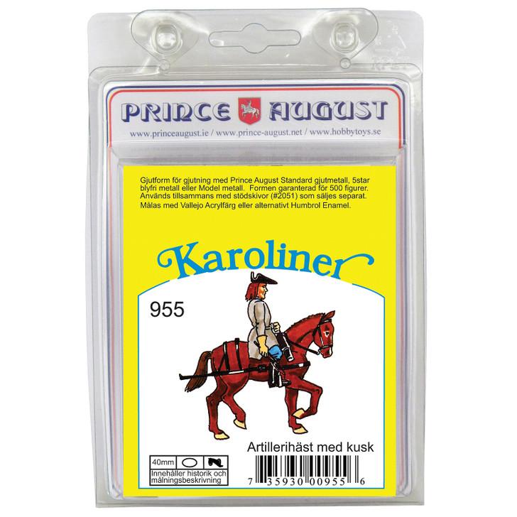 PAS955 Karoliner Artillery man on horse label