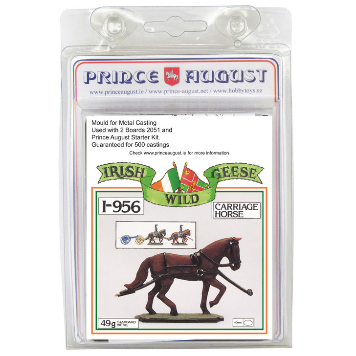 PAi956 Irish Wild Geese Artillery Carriage Horse mould label