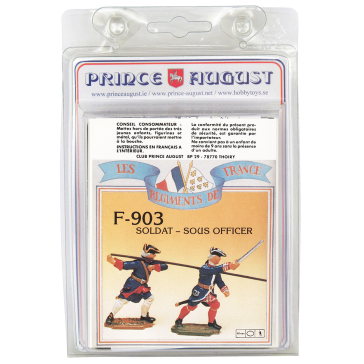PAF903 French Regiments 1750 Pikemen and Officer label