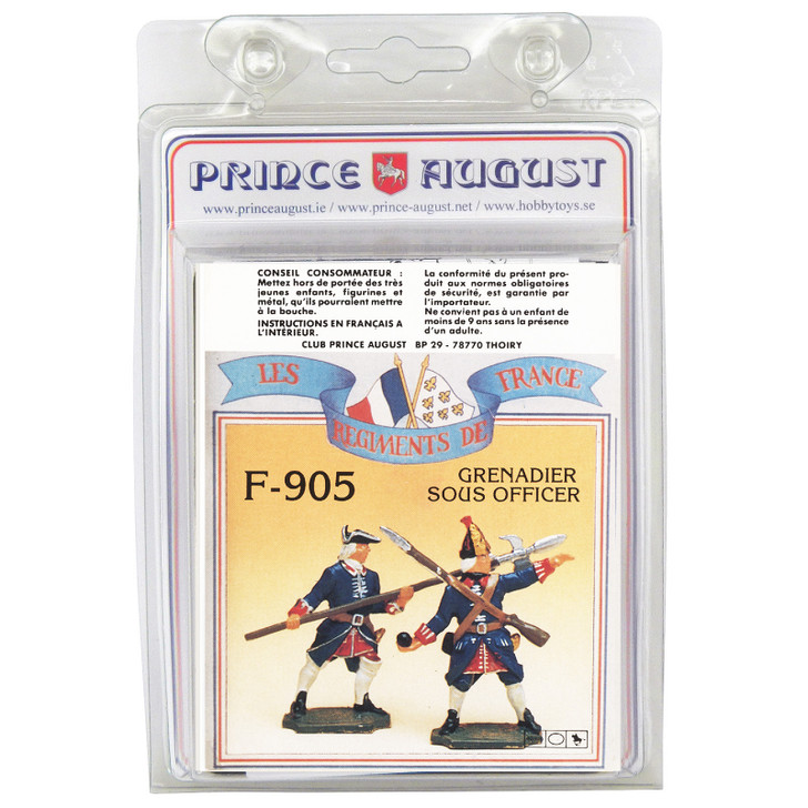 PAF905 French Regiments 1750 label