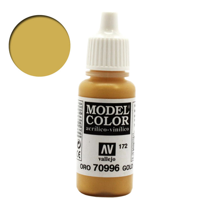 Gold Metallic Vallejo Model Color Acrylic Paint 70996