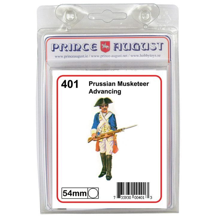 Prussian Musketeer advancing blister