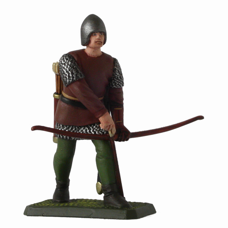 Medieval English Longbowman Loading Bow painted