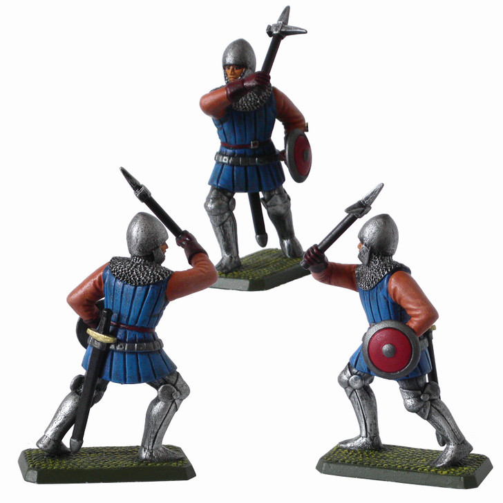 Medieval French Man-at-arms with warhammer painted