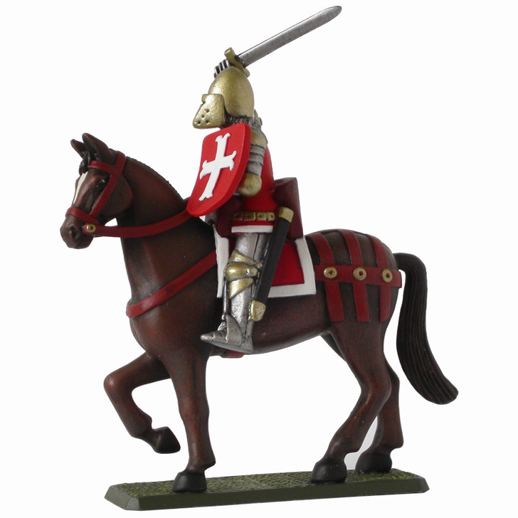 Medieval English Mounted Knight painted