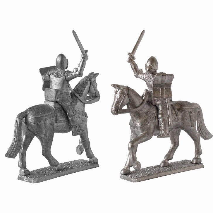 Medieval French Mounted Knight unpainted
