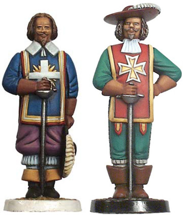 Example of three musketeers pawns
