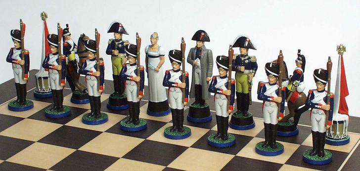 The Battle of Waterloo chess side: Napoleon