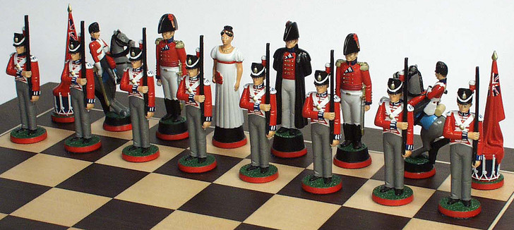 Battle of Waterloo Chess Set: Wellington's side