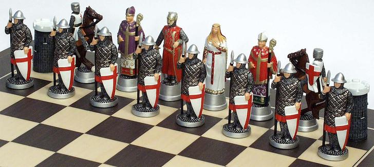 Crusades Chess Set: Richard the Lionheart side