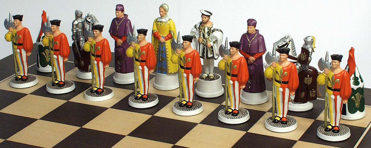Field of Cloth of Gold Chess set: Francis 1st side