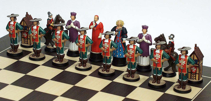 The Three Musketeers Chess Set: The Cardinal's side