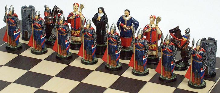 Robin Hood Chess Set: Sheriff of Nottingham Side
