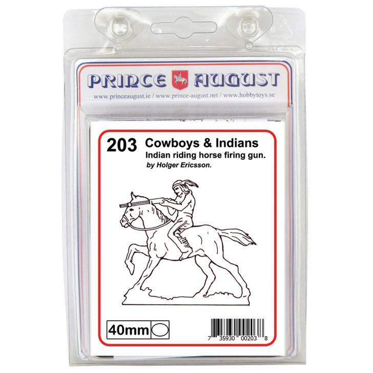 PA203 Indian on horse firing gun
