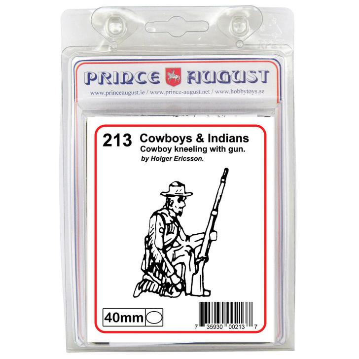 PA213 Cowboy kneeling with gun