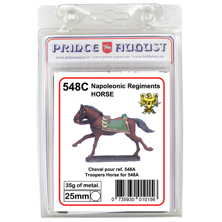 PA548C French Empress Dragoons Trooper's horse label