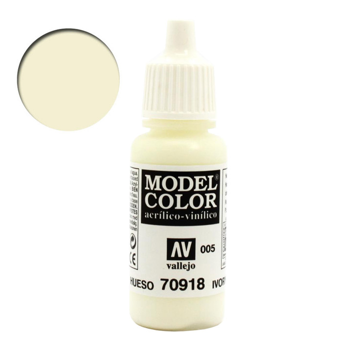 Ivory Vallejo Model Color Acrylic Paint 70918
