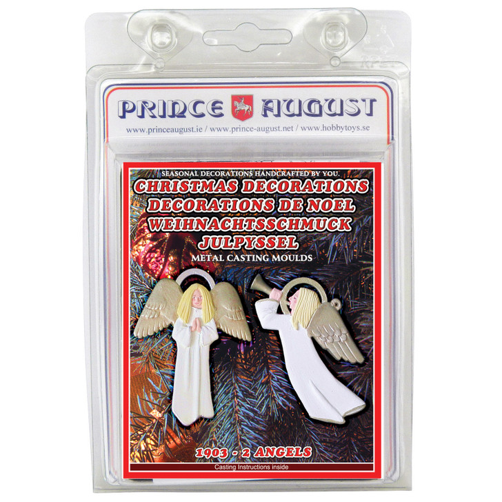 PA1903 Christmas Decorations - Two Angels label