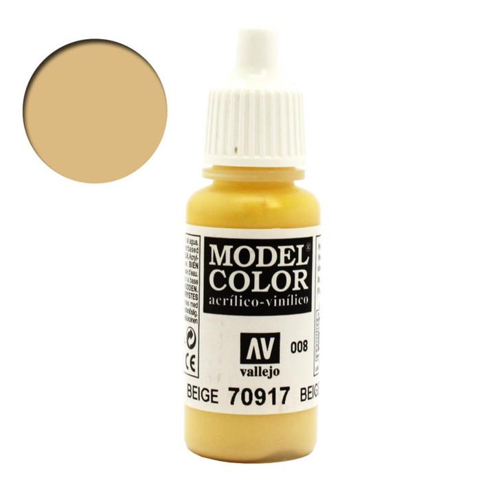 Beige Vallejo Model Color Acrylic Paint 70917