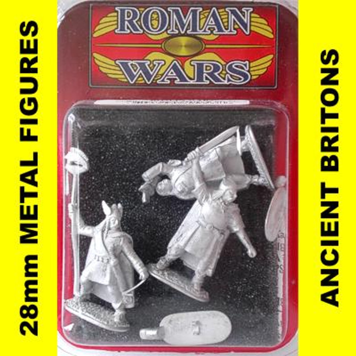 Roman Wars - Briton Chieftain, Carnyx Player & Standard Bearer