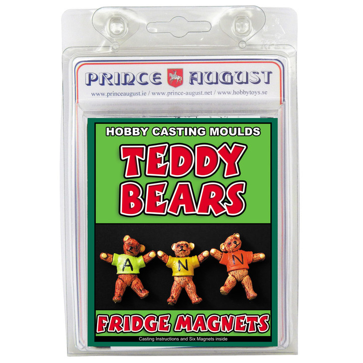 Blister pack with a single mould that allows you to cast 3 Teddy Bears