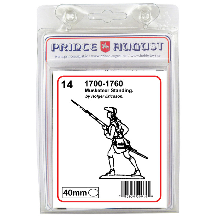 PA14 18th Century Musketeer standing blister