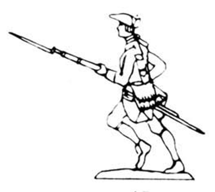 18th Century Musketeer advancing