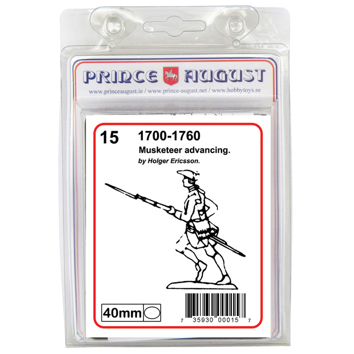 PA15 18th Century Musketeer advancing blister