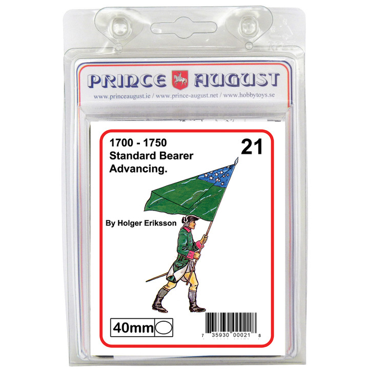 PA21 18th Century Standard Bearer advancing blister