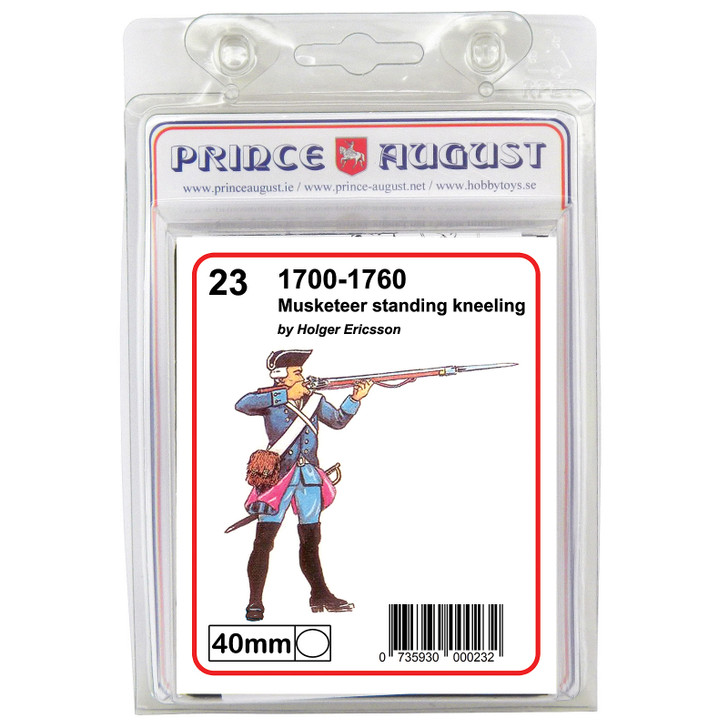 PA23 18th Century Musketeer shooting standing blister