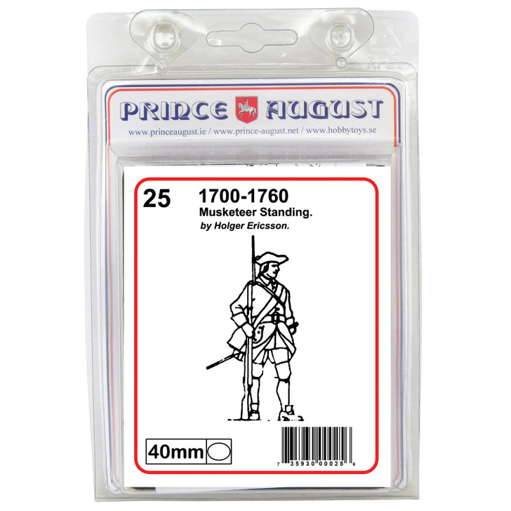 PA25 18th Century Musketeer standing blister