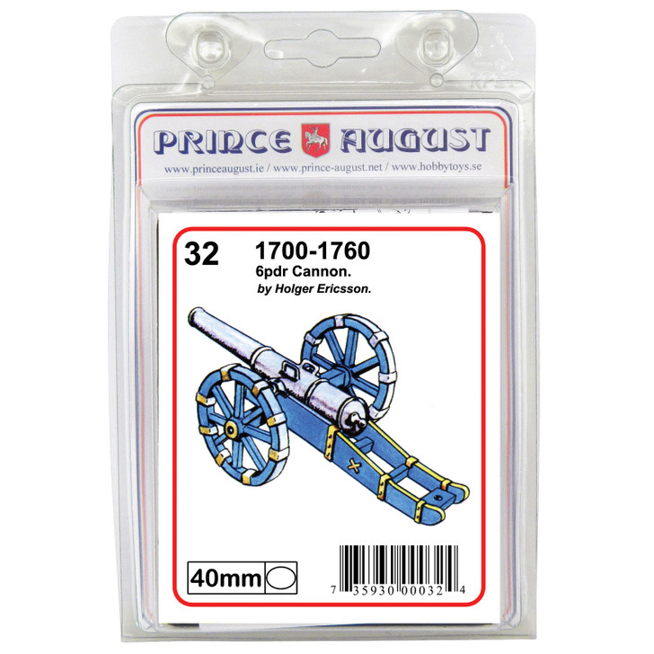 18th Century 6pdr Cannon blister